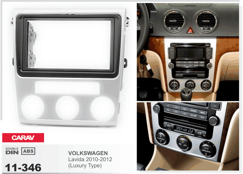 CARAV 11-346 Car Radio Installation Trim Fascia Panel
